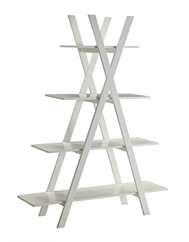 Convenience Concepts Oxford A Frame Bookshelf, White