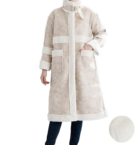 WanYang Abrigo de Capa Elegante de Alta Calidad para Mujer Abrigo de Color Sólido Suelta Otoño e Invierno Cálido: Amazon.es: Ropa y accesorios