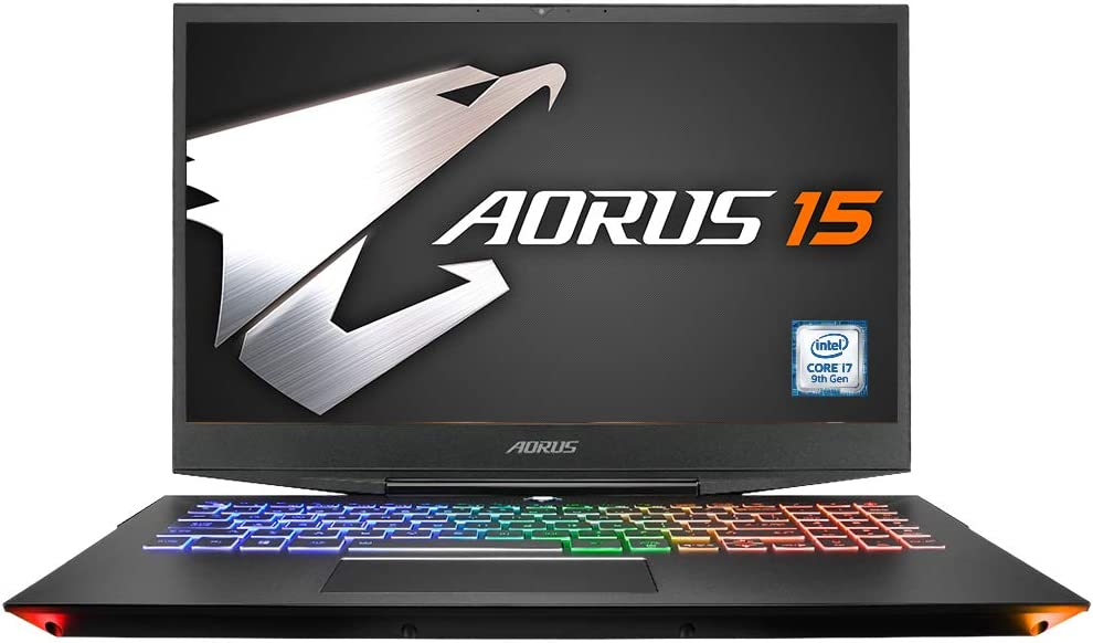 "AORUS 15-XA-F74CDW 15"" Thin Bezel Sharp 240Hz FHD Igzo LCD, i7-9750H, NVIDIA GeForce RTX 2070, Samsung 16GB RAM, Intel M.2 PCIe NVMe 512GB SSD, 2TB HDD, Win10, Ultra Slim Metal Chassis Gaming Laptop"