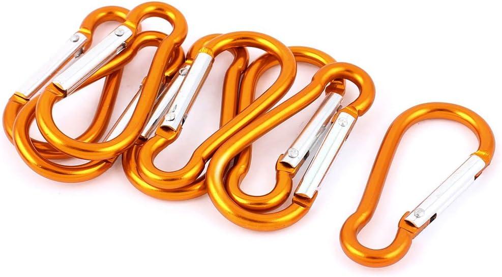 Spring Snap Carabiner Hook yellow Clasps Loop Belt,63*26mm Screw Lock Carabiner Snap Hook,keychain clip hook for keybagdiy making