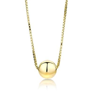 e056244ab5fc Miore Kette - Halskette Damen Gelbgold 9 Karat   375 Gold Kette Kugel 45  cm  Amazon.de  Schmuck