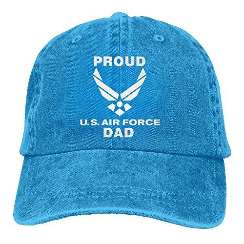 Pastcloud Hat Proud Air Force Dad Youth Baseball Cap Retro Jean Trucker Cap