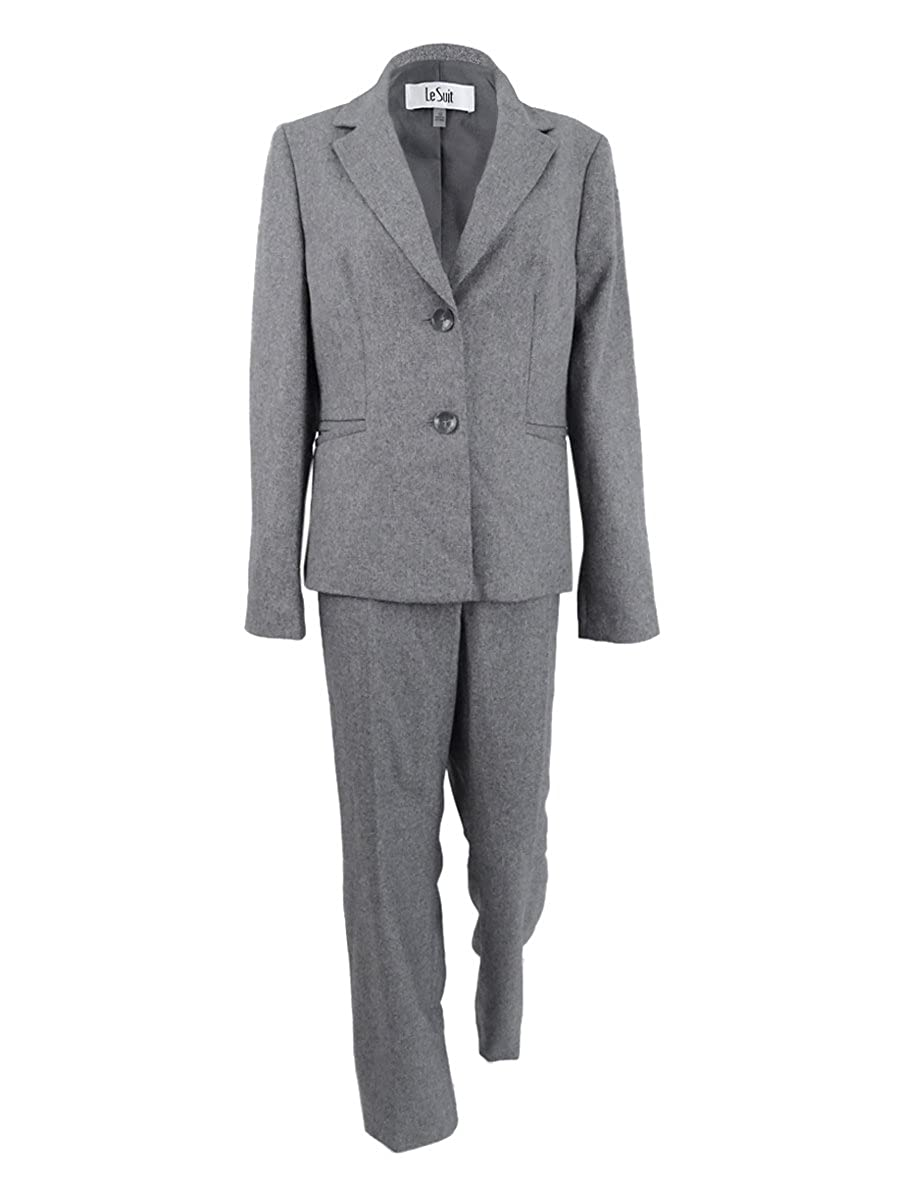 Le Suit Womens Plus Size Two-Button Pantsuit