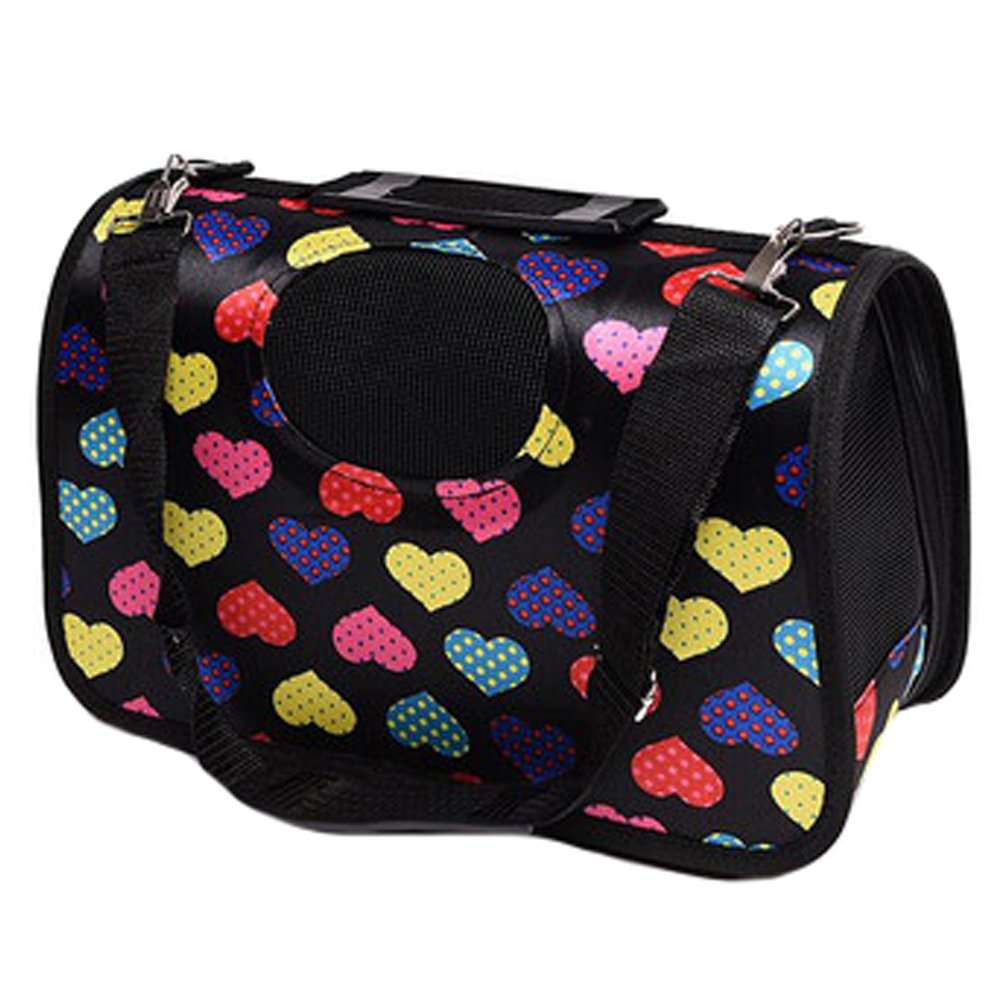 Portable Foldable Pet Carrier Dog Carriers Cat Bag Tote Bags Outdoor, Hearts