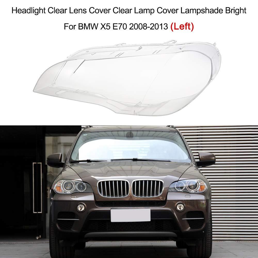 Festnight Phare Clair Couvercle de Objectif Clair Couvercle de la Lampe Abat-Jour Brillant pour BMW X5 E70 2008-2013 Gauche