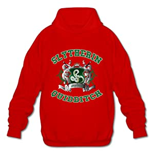 NUBIA Men's Harry Slytherin Quidditch Potter Long Sleeve Sweater Red S