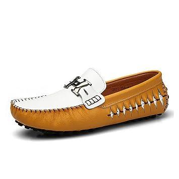 CAI Piel/Mocasines y Slip-Ons Genuinos para Hombre 2018 Primavera/Verano / Otoño Confort para Hombre/Zapatos para Barcos/Zapatos Perezosos/Zapatos de ...