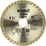 #7: DEWALT DW4725 High Performance 4-1/2-Inch Dry Cutting Continuous Rim Diamond Saw Blade with 7/8-Inch Arbor for Masonry (2-Pack)