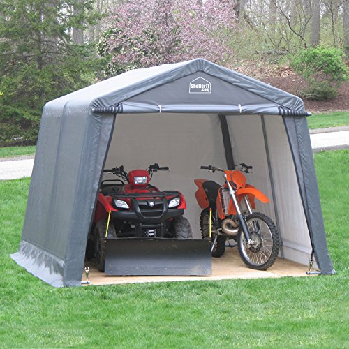 (Shelter Giant 11210 Instant Garage Shed, 12' x 10', Grey)