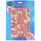 72 Emery board set with flower design