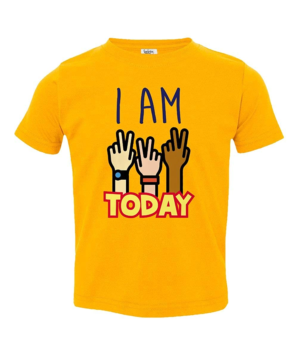 Societee I Am Two Today 2nd Birthday Little Kids Girls Boys Toddler T-Shirt