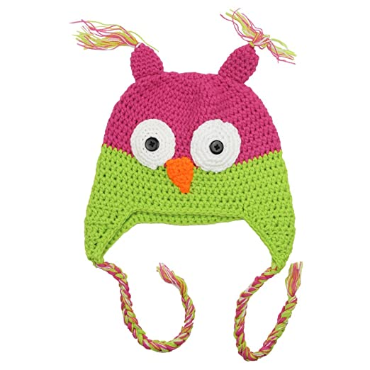 Amazon.com  juDanzy Hot Pink   Lime Baby   Toddler Owl Hat (4-12 ... 141c1860557