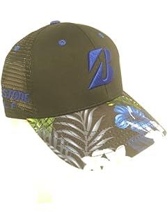 ef5d3d848d0d5 NEW 2018 Bridgestone Golf Luau Series Black Blue Snapback Adjustable Hat Cap