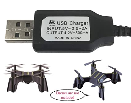 USB Charger for Sharper Image DX-1 Nano Drone