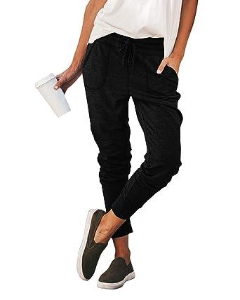 cb135640bb Cindeyar Trousers for Women Tracksuit Bottoms Ladies Jogger Pants Casual  Cotton Sports Gym Sweatpants Jogging Pants