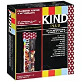 Kind Fruit and Nut Bars Cranberry Almond & Antioxidants, 1.4 oz, 12 Count (Pack of 5)