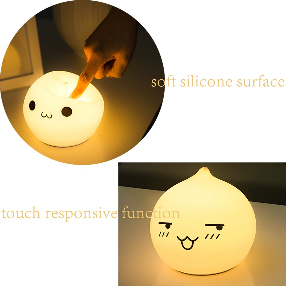 Silicone Soft Animal Multicolor Night Light Nursery Lamp for Children Toddler Boys Girls Gift (Remote Control, Dorky Drop Water) by Gooplayer (Image #7)