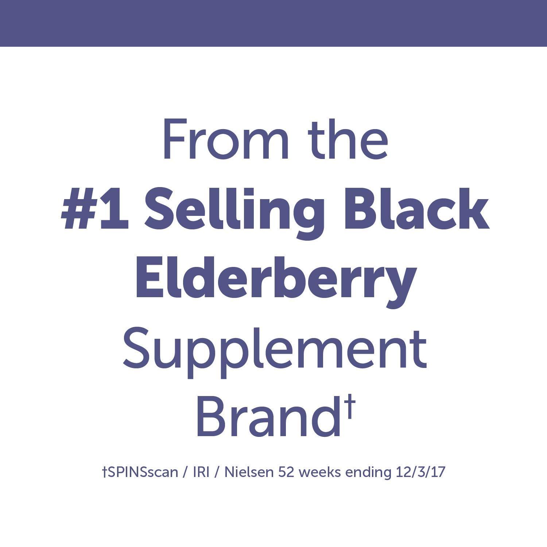 Nature's Way Sambucus Elderberry Gummies, Herbal Supplements with Vitamin C and Zinc, Gluten Free, Vegetarian, 60 Gummies by Sambucus (Image #8)
