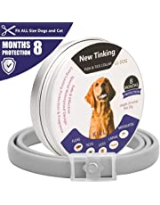 LAOYE Flea Collar Dogs - 8 Month Protection Adjustable Length Dog Collar for All Ages of Dogs Anti Dog Flea Collar