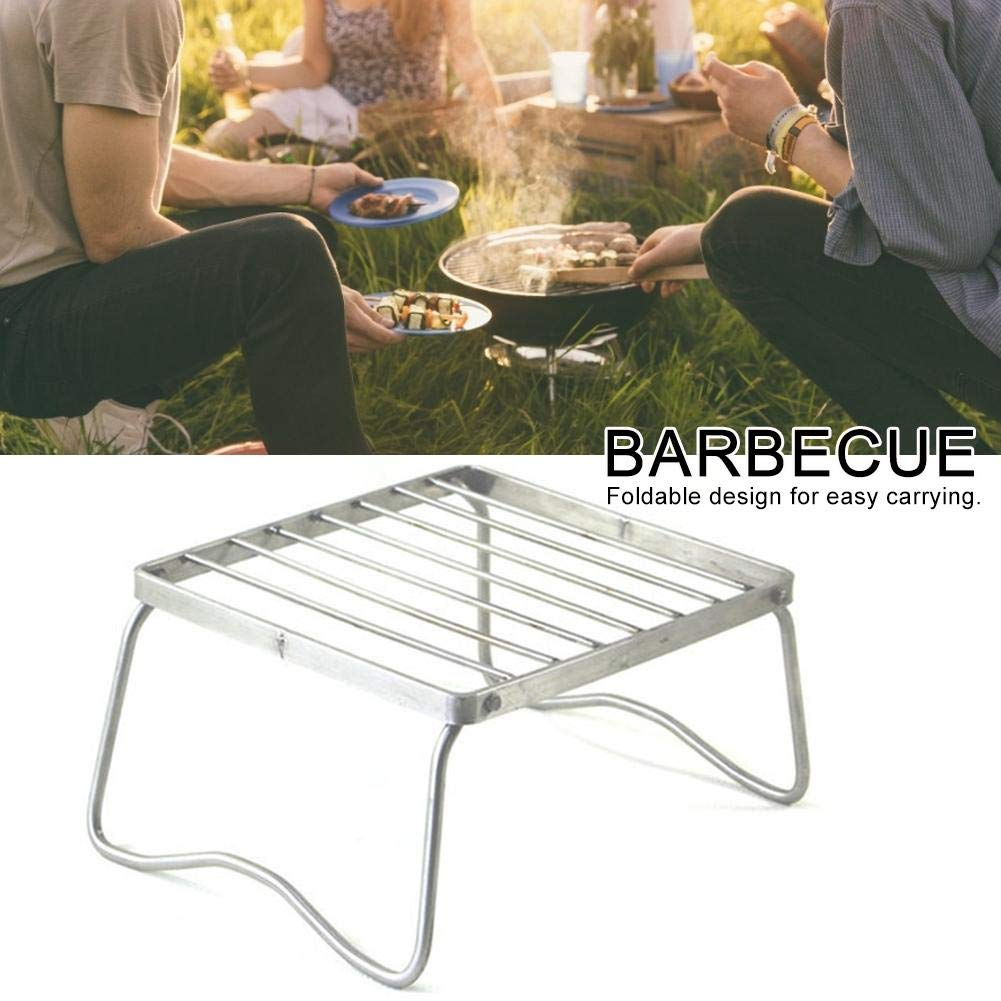Mini Grill Tragbare Faltbare Edelstahl Grill ,f/ür Outdoor Garten Camping Party Beach Barbecue Klappbarer Picknick-Grill Aus Kompaktem Edelstahl