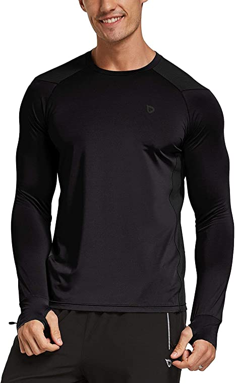 Mens Performance T Shirt Breathable Training Gym Sport Running Reflective Detail