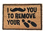 Funny Doormat Outdoor Coir Mat Moustache You To Remove Your Shoes Deal