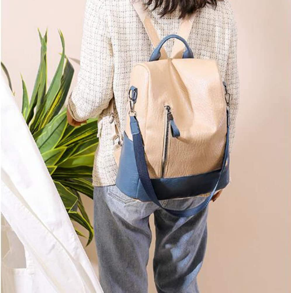 GOUTUIZI Women Soft Leather Backpack,Ladies Travel School Bags,3 Ways Convertible Ladies Shoulder Bag Handbag