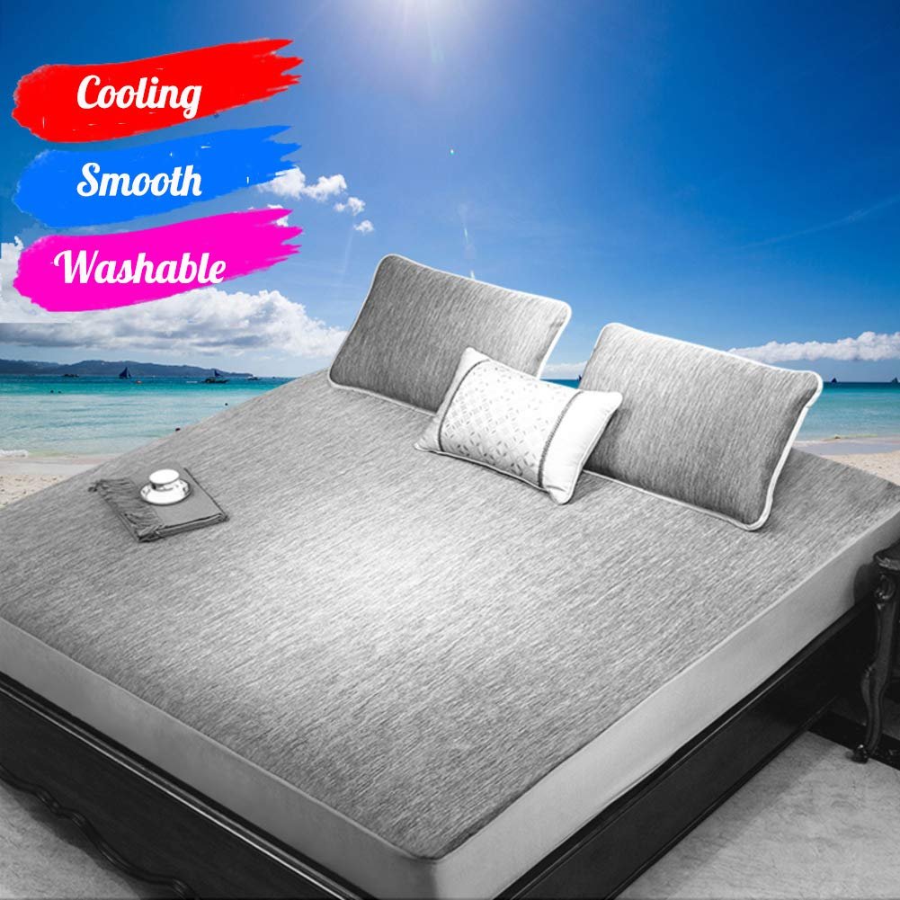 YXLHJY Washable Ice Silk Sleeping Mat Cooling Mattress Topper,Summer Folding Soft Mattress Pad-a Twinch2