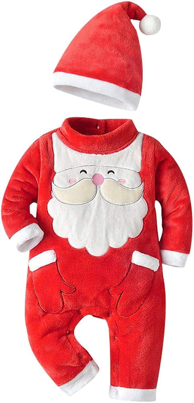 YWLINK Conjunto De Navidad Mono NiñO Santa Claus NiñA Bebé ...
