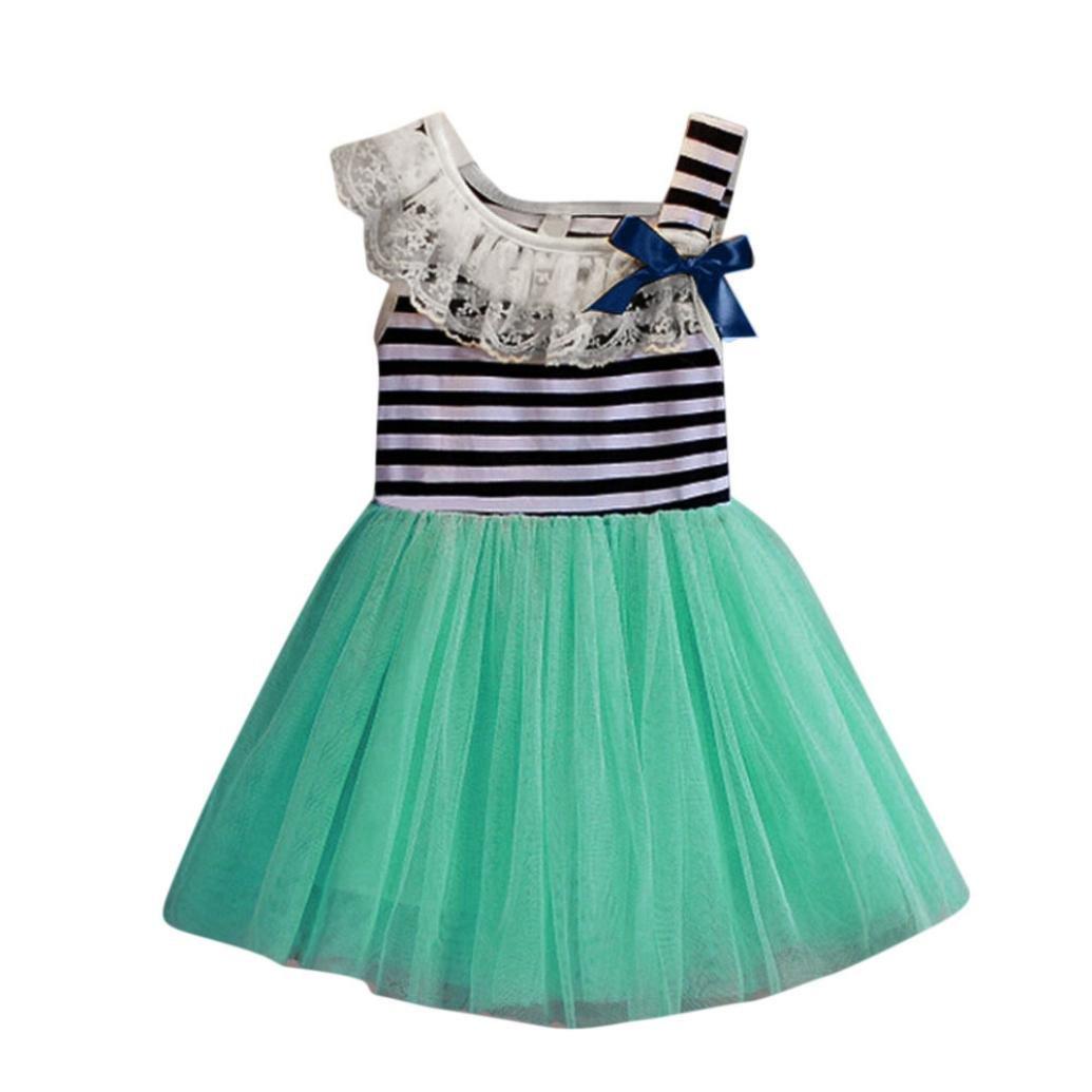 Amazon.com : Hot Baby Dress! AMA(TM) Toddler Kids Baby Girls Striped ...