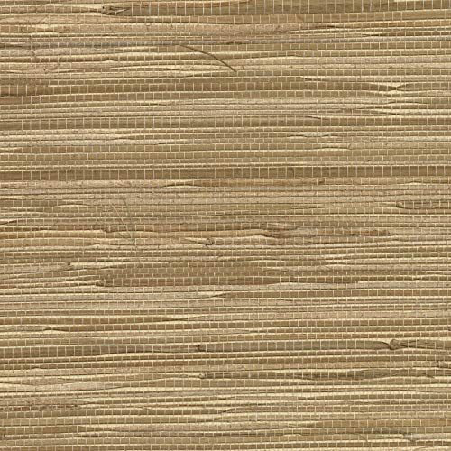 Brewster 282-65621 Beacon House Madison Florals Grasscloth Wallpaper, 36-Inch by 288-Inch, Tan