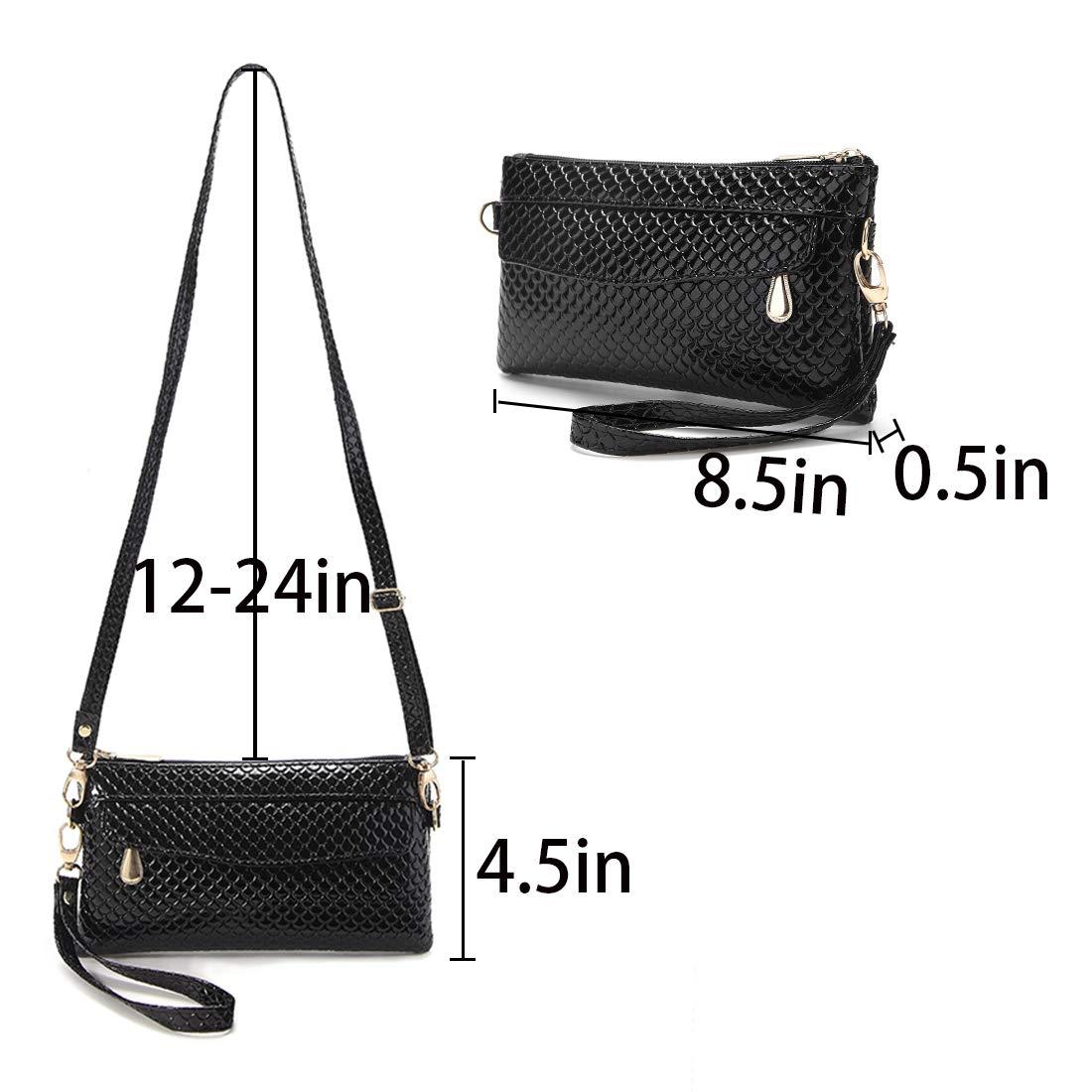 Smiley Face Women wristlet wallet Small Crossbody Bag Cellphone Purse Ladies Girls