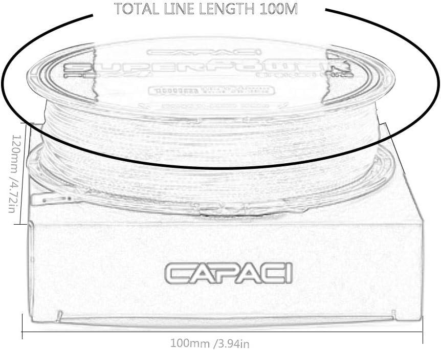 4 Series high Strength Braided Fishing line Fishing Gear Super Durable Fishing Gear 28016 CAPACI 100m Monochrome PE line