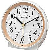 リズム時計工業(Rhythm) 置き時計 ゴールド 11.4x11.2x6.2cm 目覚まし時計 アナログ 連続秒針 暗所 自動 ライト 8RE669SR18