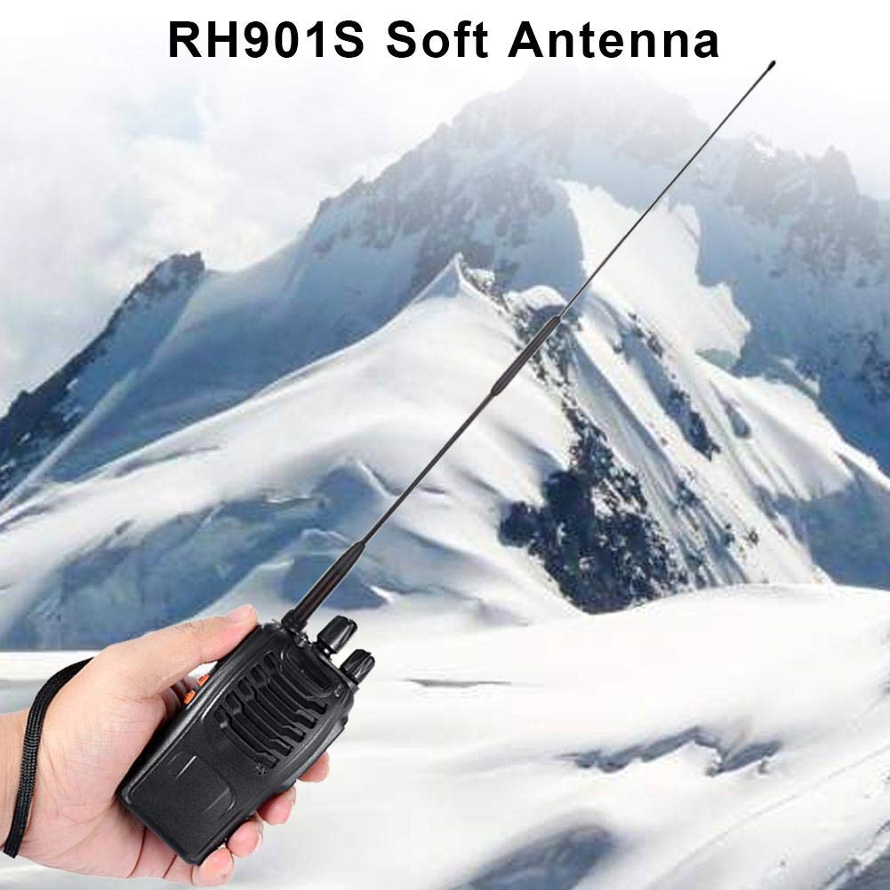 Section Gain Hand Antenna UV-82 UV U1Z8 Antenna RH901S SMA-Male For Two Way Radio VX-6R VX-7R VX-8d,VX-2R UV-3R PX-2R TH-UV3R ZT-2R cineman Walkie Talkie Dual Band Antenna Diamond RH-901S Full