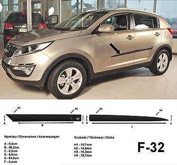 Spangenberg Listones de protección Lateral, Color Negro, para Kia Sportage III SUV Tipo SL año de construcción 07.2010-08.2015 F32 (370003201): Amazon.es: ...