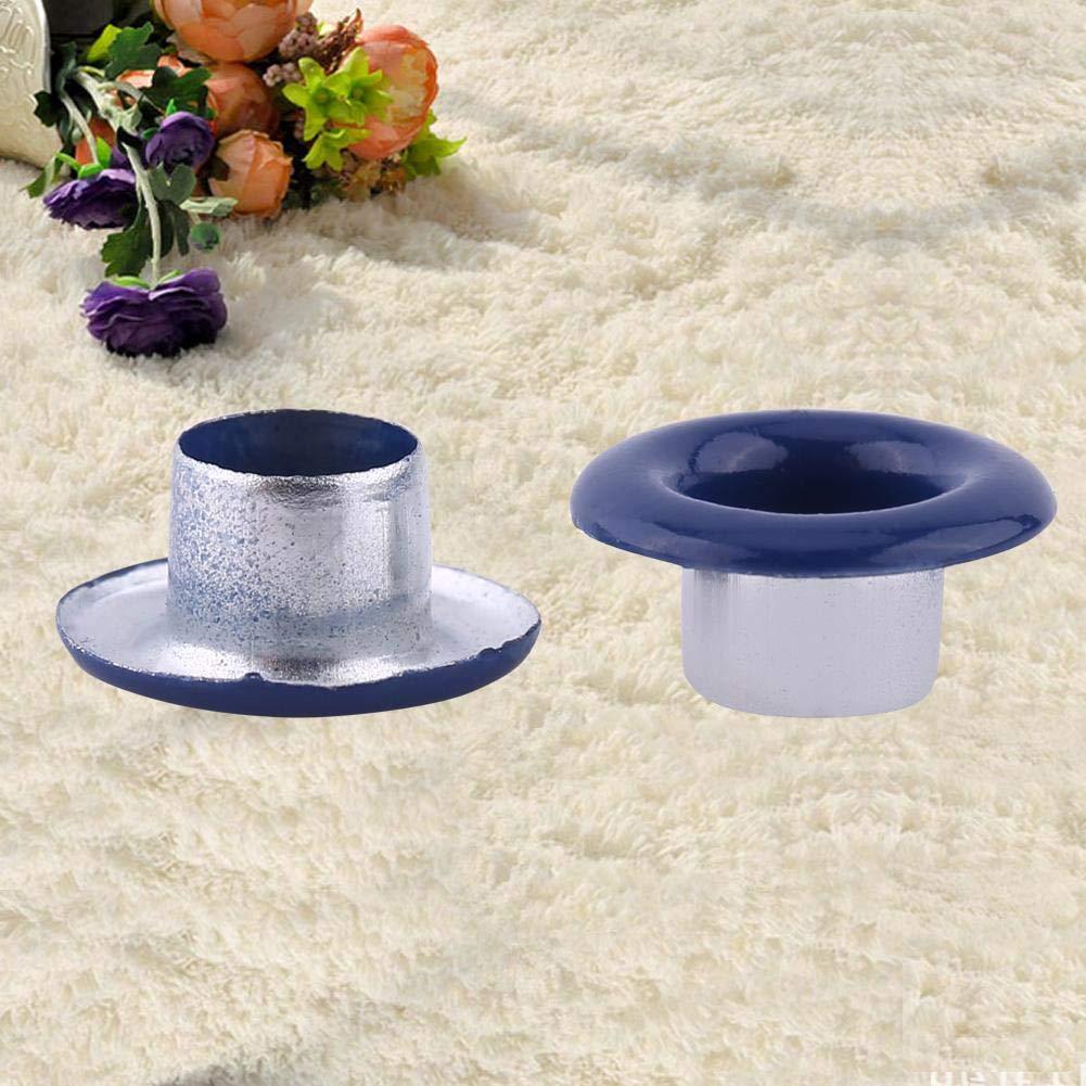 Ojales Azul oscuro 5 colores 100 juegos 5 mm met/álico Scrapbooking Ojales hebilla de cuero Craft ropa accesorios nuevo