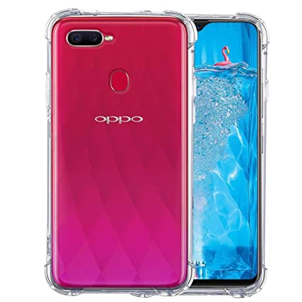 competitive price 873fe 0a9ce TheGiftKart Shockproof TPU Back Cover Case for Oppo F9 / F9 Pro  (Transparent)
