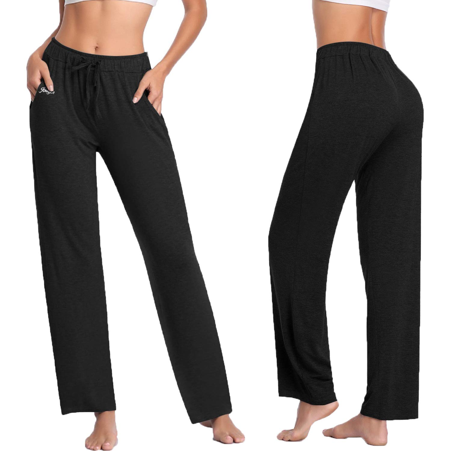 new concept high quality world-wide selection of Women's Yoga Pants Long Modal Comfy Drawstring Trousers Loose Straight-Leg  for Yoga Running Sporting with Pockets