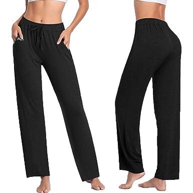 810cba58ee Women's Yoga Pants - Workout Running Tummy Control Stretch Power Flex Modal  Drawstring Comfy Long Leggings