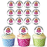 AKGifts Skye (Paw Patrol) 30 Personalised Edible Cupcake Toppers / Birthday Cake Decorations - Easy Precut Circles