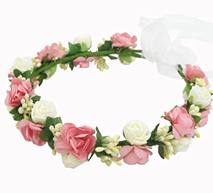 Amazon.com  Multicolor Simple EVA Foam Rattan Wedding Flower Girl ... a38d531f126