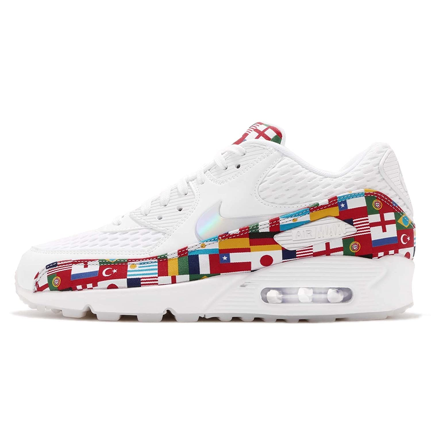 best website da8e7 d9c38 Amazon.com | Nike Air Max 90 Nic Qs 'International Flag Pack' - Ao5119-100  - Size 11.5 White, Multi-Color | Shoes