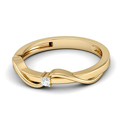 Buy Aucent by PC Jeweller The Naveah 18 K Gold and Diamond Ring