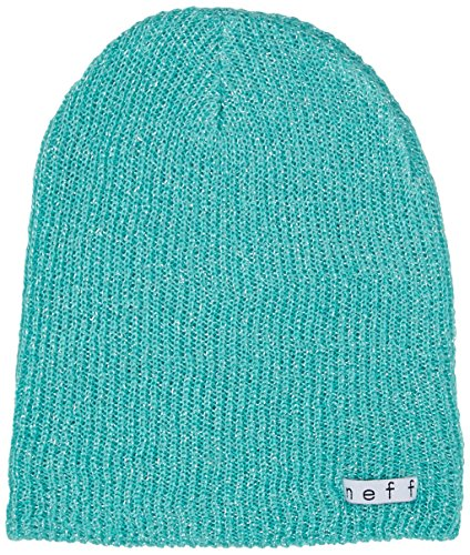 Neff Womens Daily Sparkle Beanie Hat, Turquoise, One Size