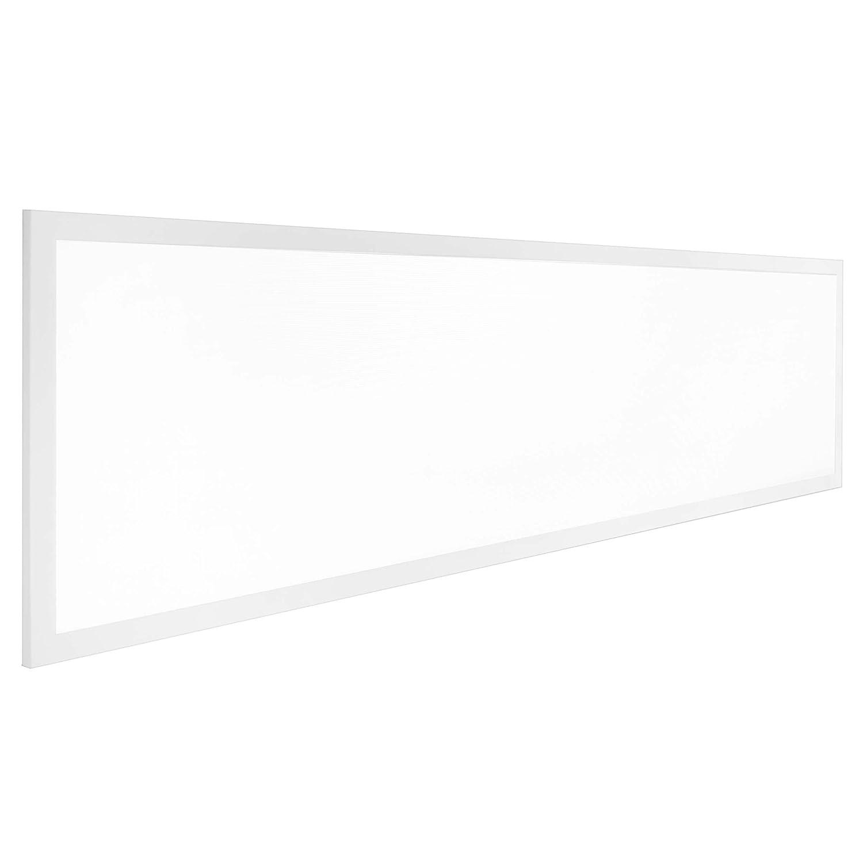 LUMIRA 50W LED Panel Panel Panel 120 x 30 x 1 cm, 4500K Neutralweiß, Weißer Rahmen, Flach, Blendfrei UGR <19, Decken-Lampe, Panelleuchte, Decken-Leuchte, Deckeninstallation, Decken-Einbau, Rasterdecke, Trafo 18b33f