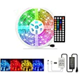 LED Light Strip 50ft ZCPlus RGB 15M Super Long Flexible Tape Lights 5050 SMD 450 LEDs Non Waterproof Rope Light with 44…