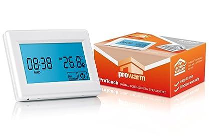 ProWarm ProTouch Digital pantalla táctil termostato, color blanco