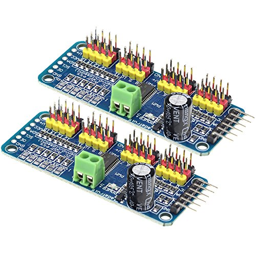 Aideepen 2pcs PCA9685 16 Channel 12 Bit PWM Servo Motor Driver I2C Interface Module for Arduino Robot