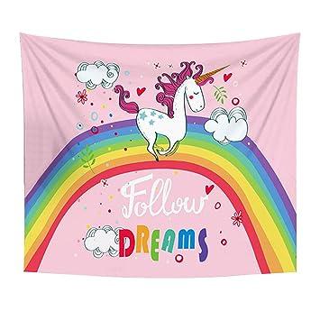 verlike - Carcasa Unicorn dormitorio tapiz decoración de Navidad Picnic manta toalla de playa, poliéster, 6#, 150cm x 100cm: Amazon.es: Hogar